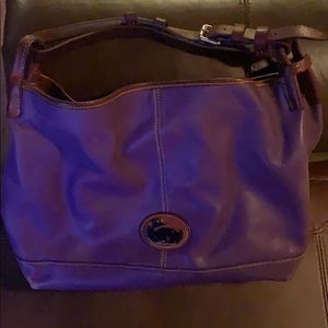 Purple/brown Leather Dooney And Bourke purse